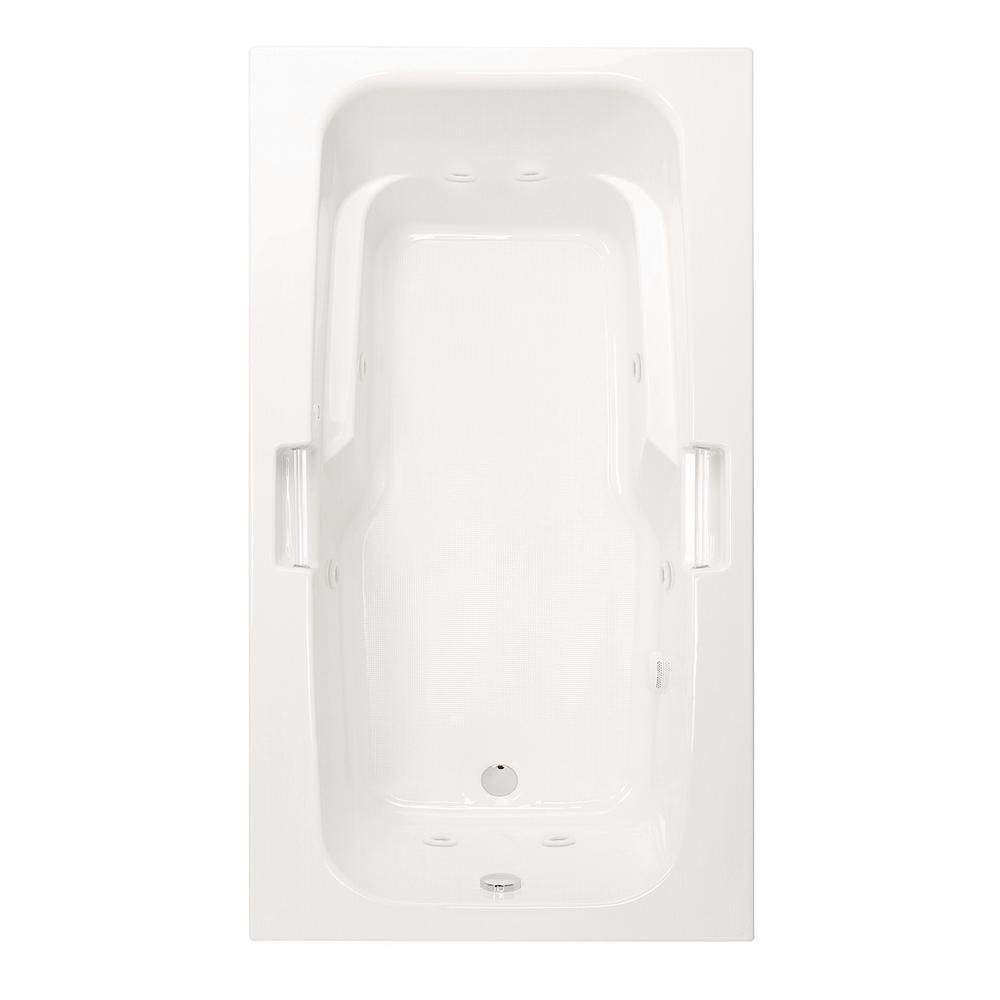 Montrose I 60 in.Acrylic Reversible Drain Rectangular Drop-In Whirlpool Bathtub