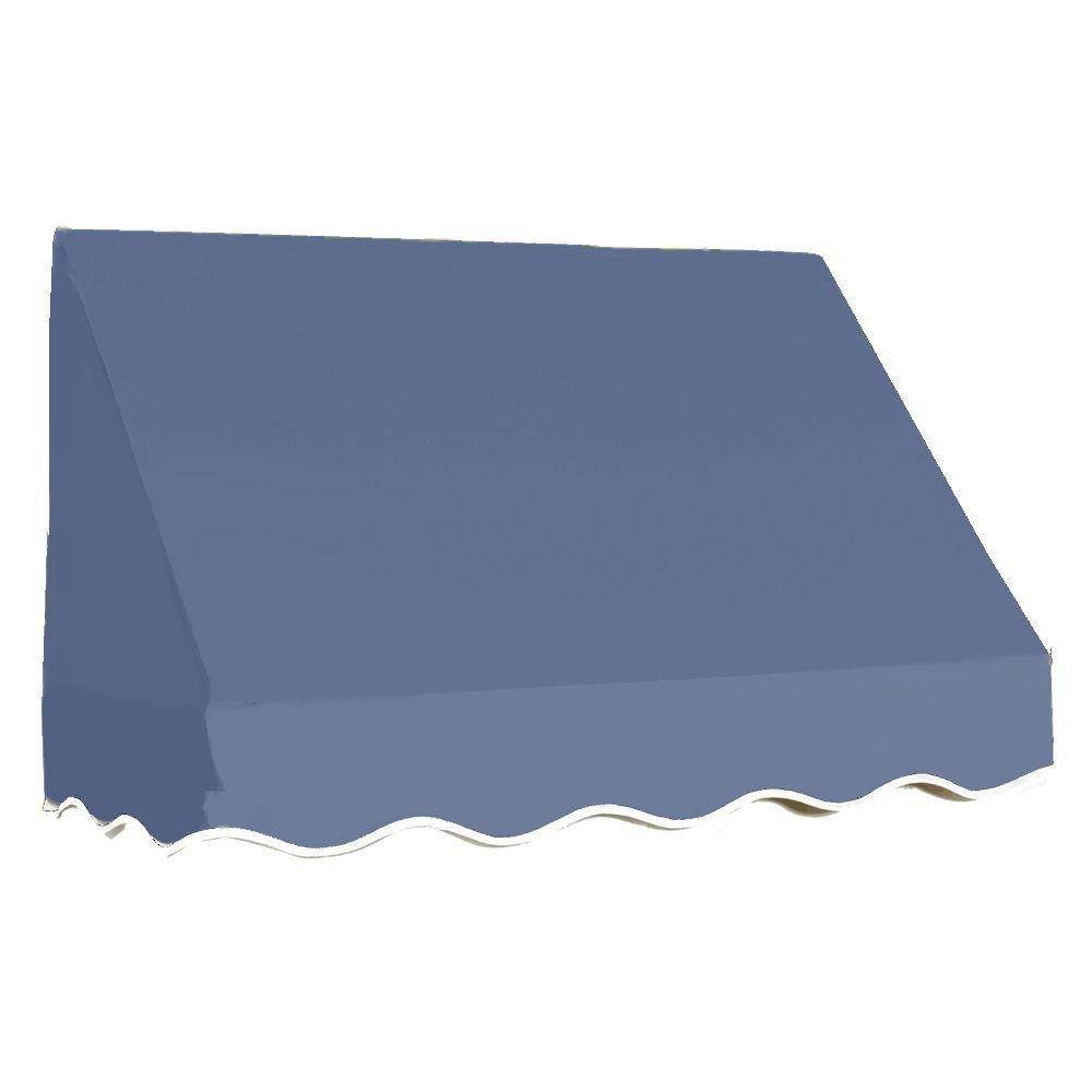 AWNTECH 12 ft. San Francisco Window Awning (44 in. H x 24 in. D) in Dusty Blue