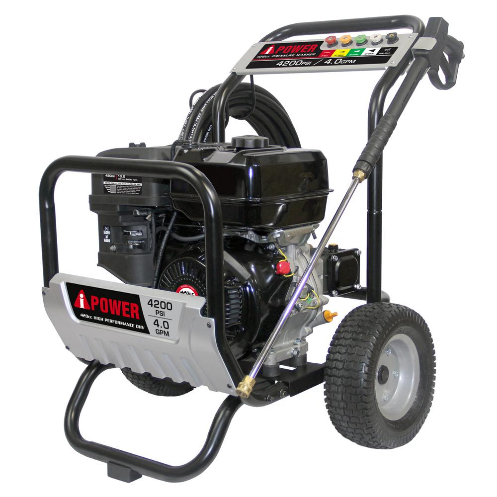 A-iPower 4200 PSI 4 0 GPM Gas Annovi Reverberi Pump Pressure Washer