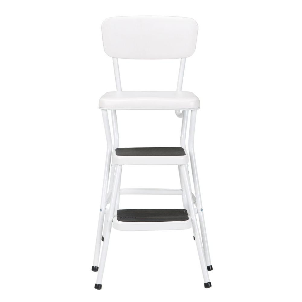 Step Stools White Cushioned Bar Stool Seat Bar Counter