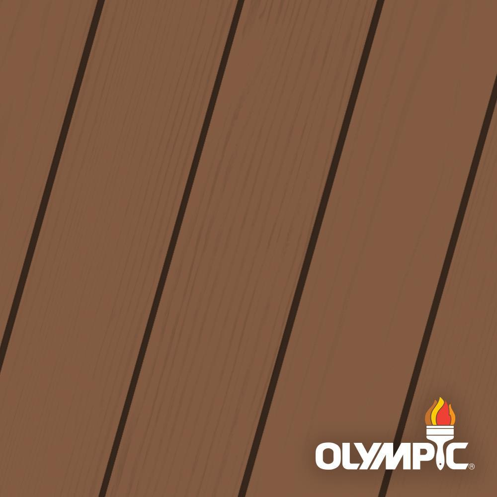 Olympic Elite 1 gal. Canyon Sunset Semi-Transparent Advanced Exterior Stain and Sealant in One Low VOC