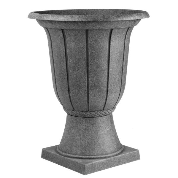 Classic Home & Garden 16 in. Coal Parkway Resin Urn for 10 ...