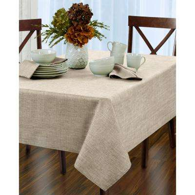 60 in. W x 84 in. L Oblong Ivory Elrene Pennington Damask Fabric Tablecloth