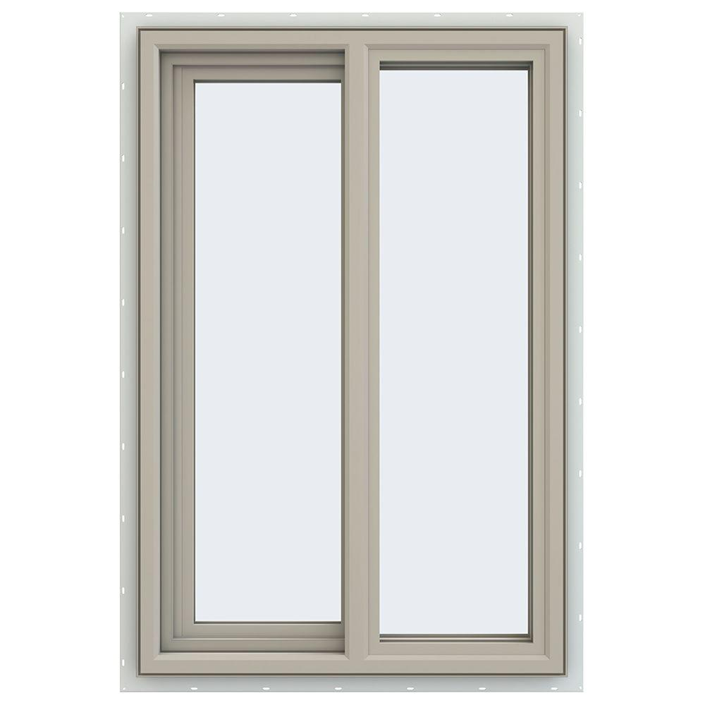 JELD-WEN 23.5 in. x 35.5 in. V-4500 Series Left-Hand Sliding Vinyl Window - Tan