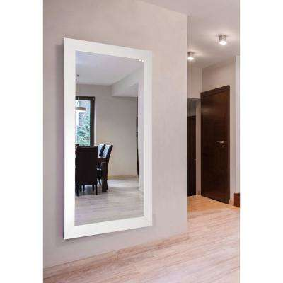 68 in. x 33 in. Glossy White Double Vanity Wall Mirror