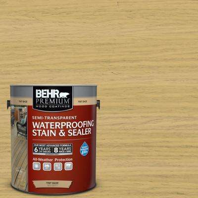 1 gal. #ST-139 Colonial Yellow Semi-Transparent Waterproofing Exterior Wood Stain and Sealer