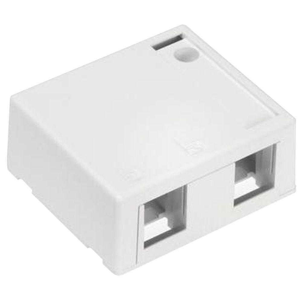 Leviton Wall Jacks Plates The Home Depot Cat5 Jack Wiring Diagram 2 Port Surface White