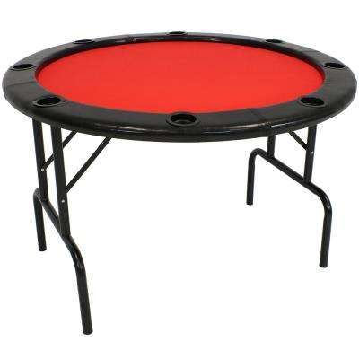 6-Player Folding Round Poker Table