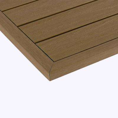 1/12 ft. x 13.95 in. Composite Quick Deck Tile Outside End Corner Fascia in Japanese Cedar (2-Pieces/Box)