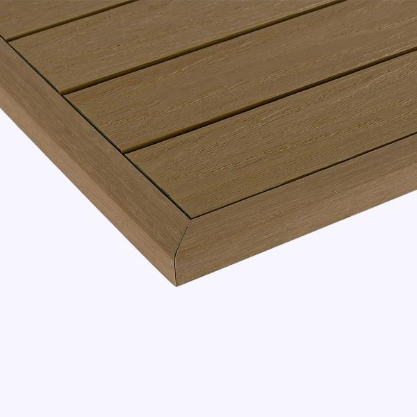 1/6 ft. x 1 ft. Quick Deck Composite Deck Tile Outside Corner Trim in Japanese Cedar (2-Pieces/Box)