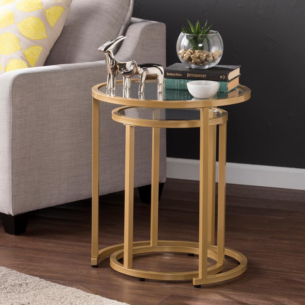 Gold Southern Enterprises AMZ8746CO Marlington Nesting Tables