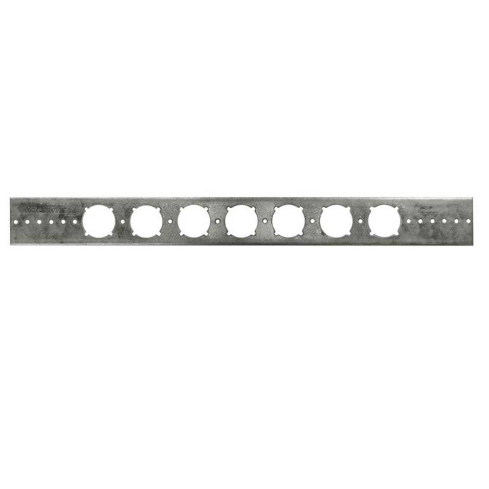 PEXRITE 20 in. Flat Galvanized Bracket with 1-3/8 in. Keyed Holes (Box of 50)