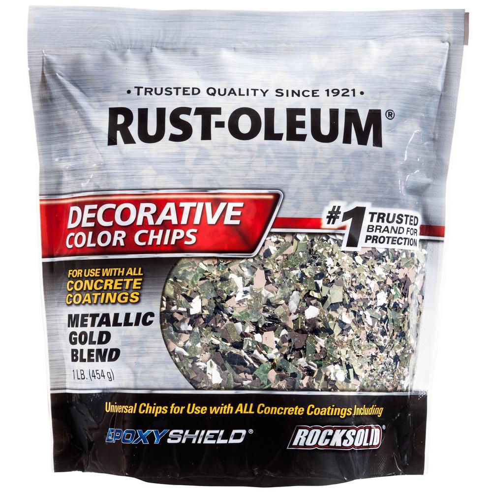 1 lb. Metallic Gold Decorative Color Chips (6-Pack)