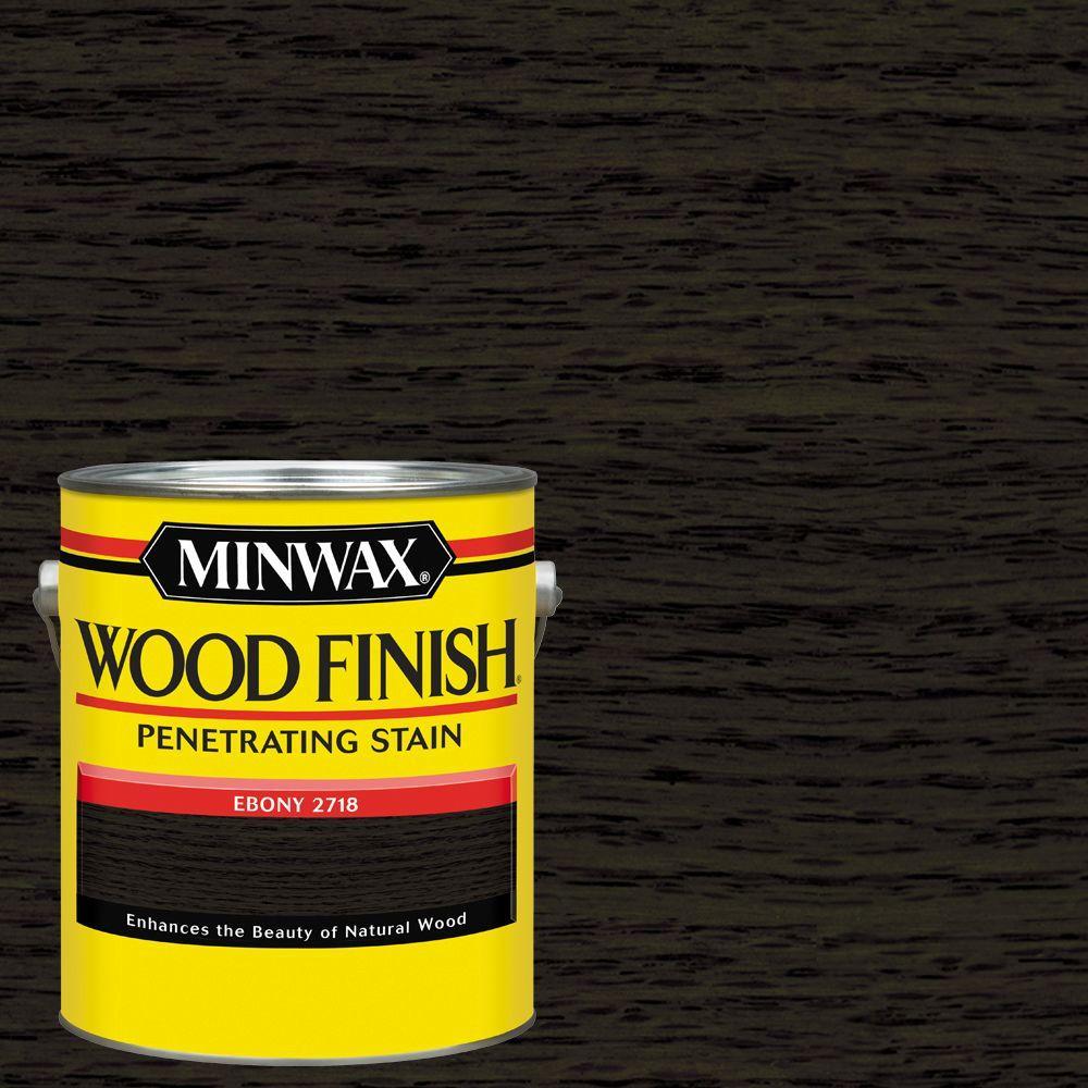 1 gal. Wood Finish Ebony Oil-Based Interior Stain (2-Pack)