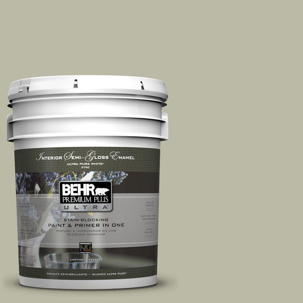5 gal. #400F-4 Restful Semi-Gloss Enamel Interior Paint and Primer in
