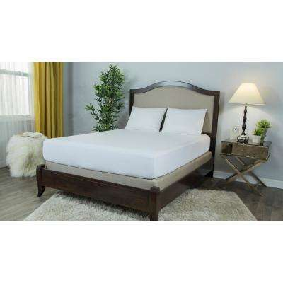 Basic Smooth Polyester Queen Mattress Protector