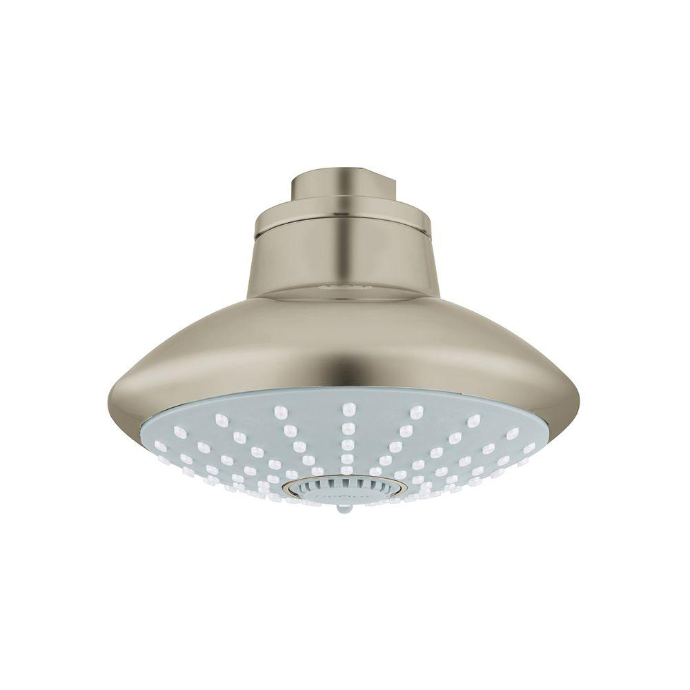 Euphoria 3-Spray 4.628 in. Showerhead in Brushed Nickel InfinityFinish