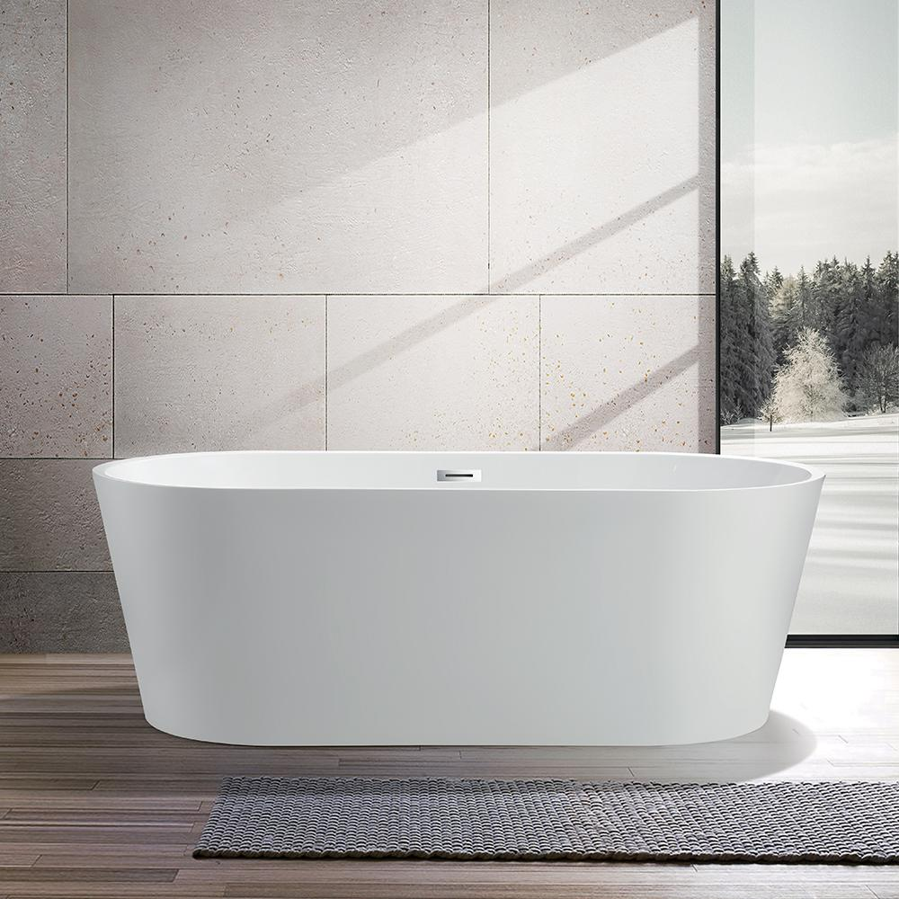 Vanity Art Bordeaux 59 In Acrylic Flatbottom Freestanding Bathtub