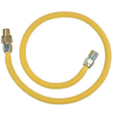 1/2 in. MIP x 1/2 in. MIP x 48 in. Gas Connector (1/2 in. OD) w/Safety+Plus2 Thermal Excess Flow Valve (106,000 BTU)
