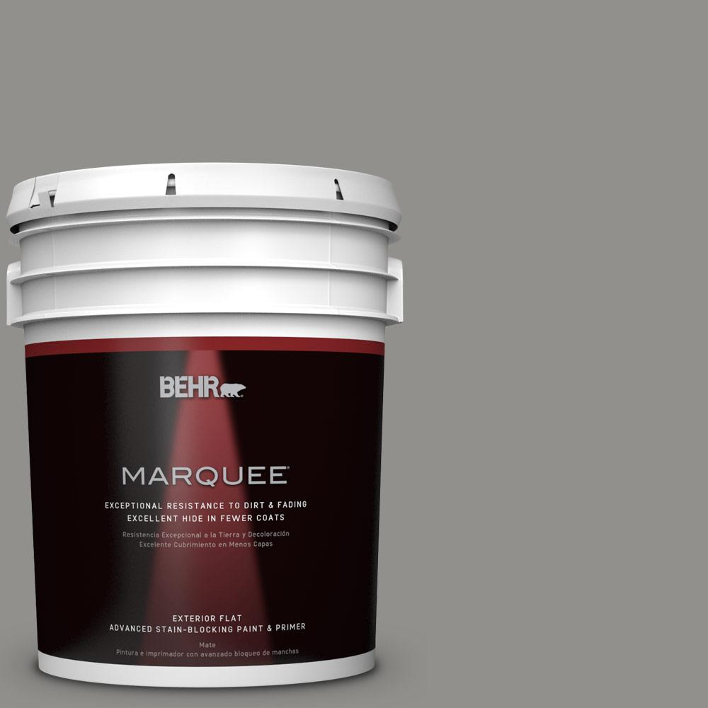 Home Decorators Collection 5-gal. #HDC-AC-19 Grant Gray Flat Exterior Paint