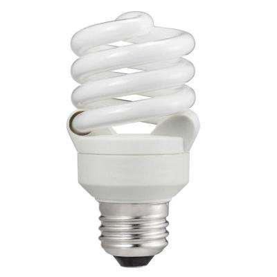 60-Watt Equivalent T2 A-Line Spiral CFL Light Bulb Cool White (4100K)