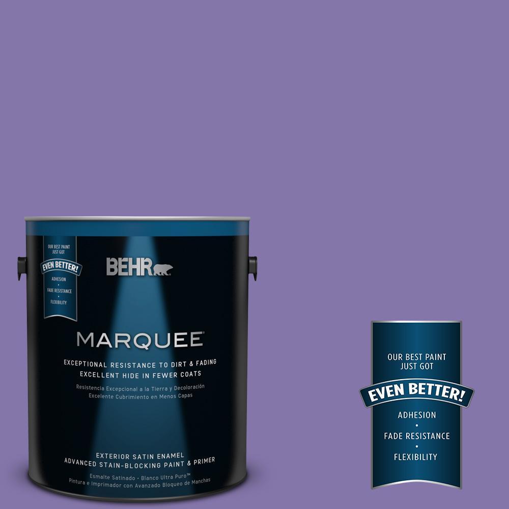 BEHR MARQUEE 1-gal. #640B-6 Grape Parfait Satin Enamel Exterior Paint