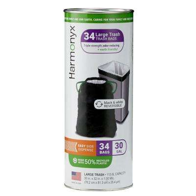 30 Gal. Large Trash Bags Tube (34-Count)