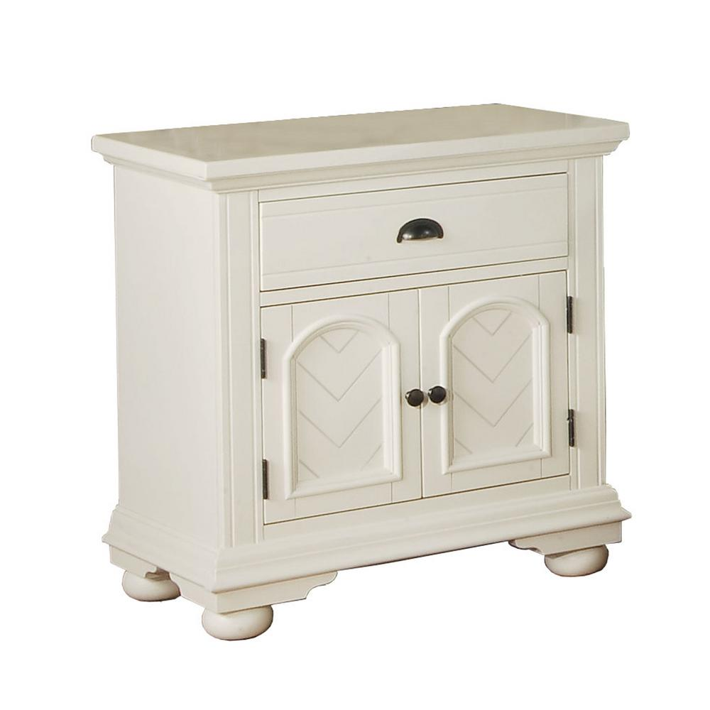 Addison 1-Drawer Nightstand in White