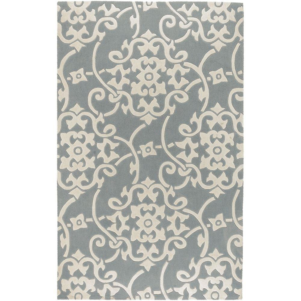 Artistic Weavers Meredith Silver Gray 3 ft. 6 in. x 5 ft. 6 in. Area Rug