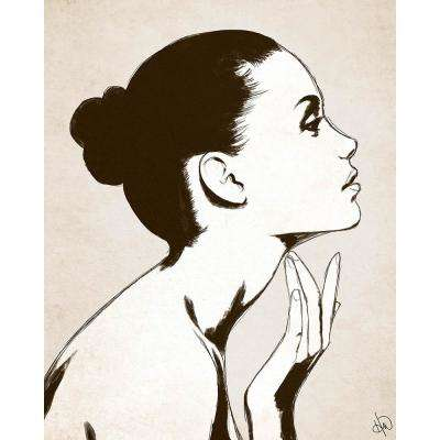 "16 in. x 20 in. ""Profile Sepia"" Acrylic Print Wall Art"
