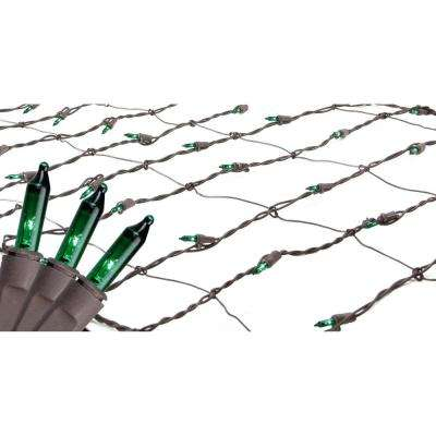 2 ft. x 8 ft. Green Mini Net Style Tree Trunk Wrap Christmas Lights with Brown Wire