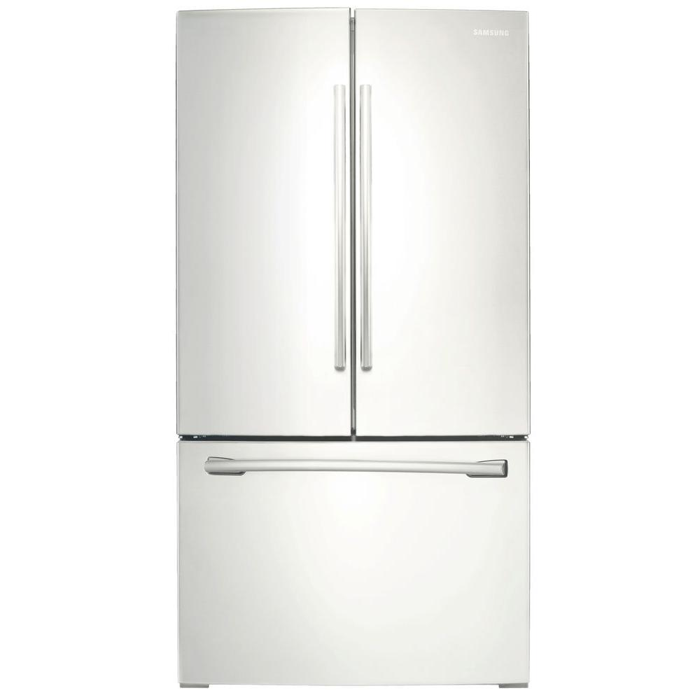 Superieur French Door Refrigerator With Internal Water Dispenser In White