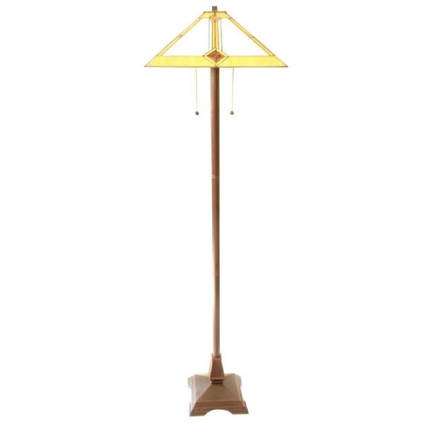 Tiffany Mission 23 in. Bronze Floor and Table Lamp
