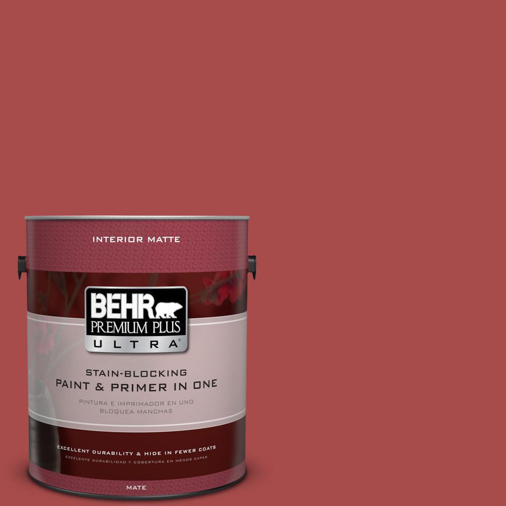 BEHR Premium Plus Ultra Home Decorators Collection 1 gal. #HDC-CL-09 Persimmon Red Flat/Matte Interior Paint