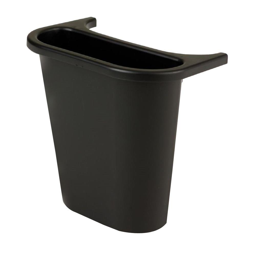 Rubbermaid Commercial Products 4-3/4 qt. Blue In/Outside Bin Attach Recycling Container
