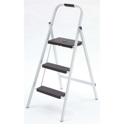 3-Step Steel Skinny Mini Step Stool Ladder