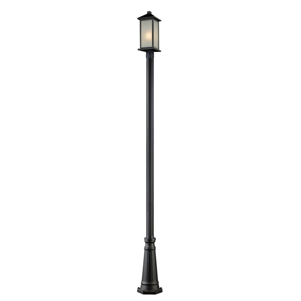 Lawrence 1-Light Outdoor Black Incandescent Post Light