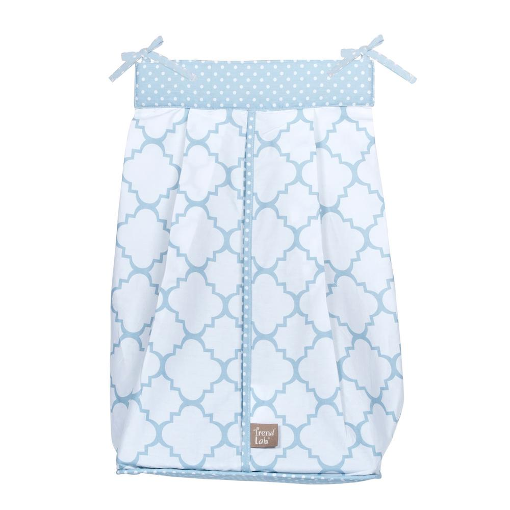 Trend Lab Blue Sky Diaper Stacker, Blue/White