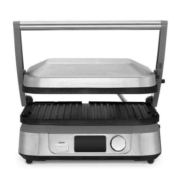 Cuisinart Griddler 5 Brushed Stainless Steel Panini Press and Griddle GR-5B