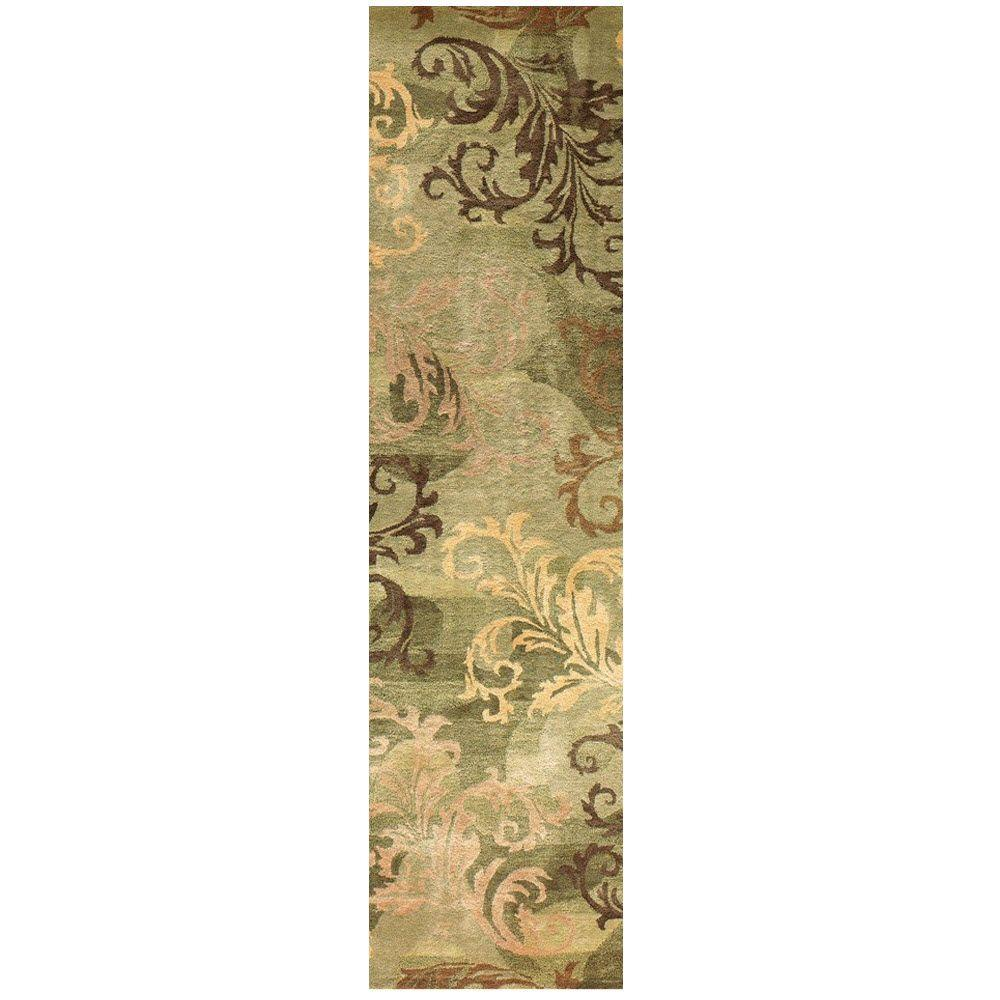 Symphony Sage/Green 2 ft. 6 in. x 10 ft. Rug Runner