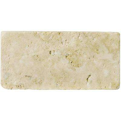 Trav Ancient Tumbled Beige 7.87 in. x 15.75 in. Travertine Floor and Wall Tile