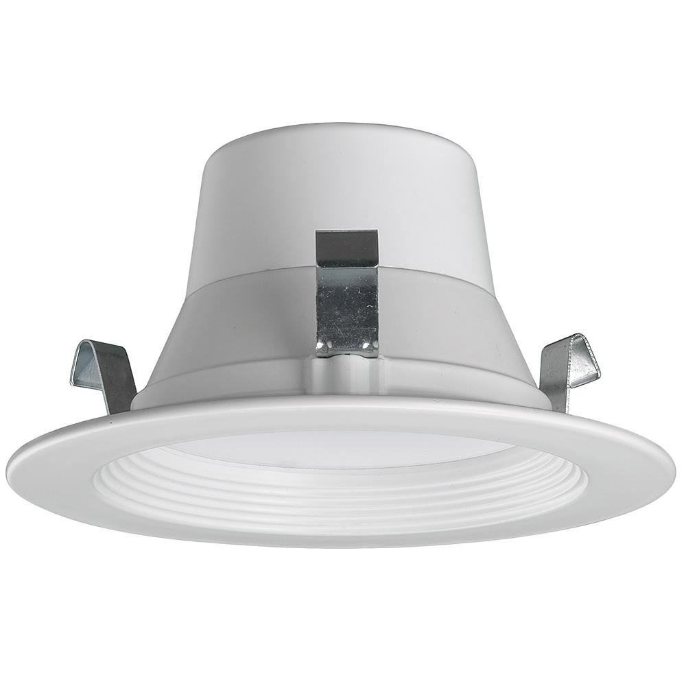 CE Bluetooth 4 in. White Integrated LED Recessed Trim