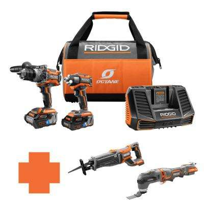18-Volt OCTANE Lithium-Ion Cordless Brushless Combo Kit w/Bonus Brushless Recip Saw & Brushless JobMax Multi-Tool