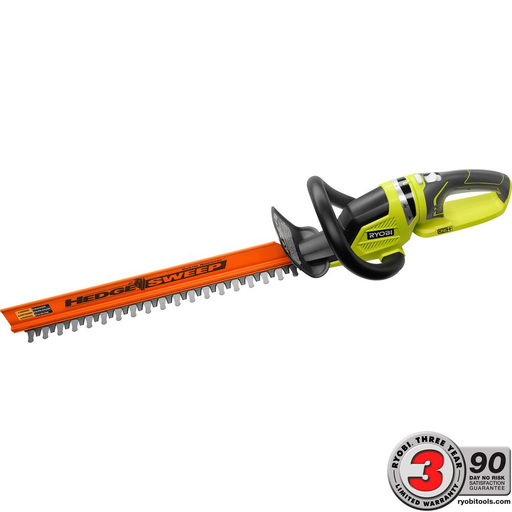 One 22 In 18 Volt Lithium Ion Cordless Hedge Trimmer Battery And