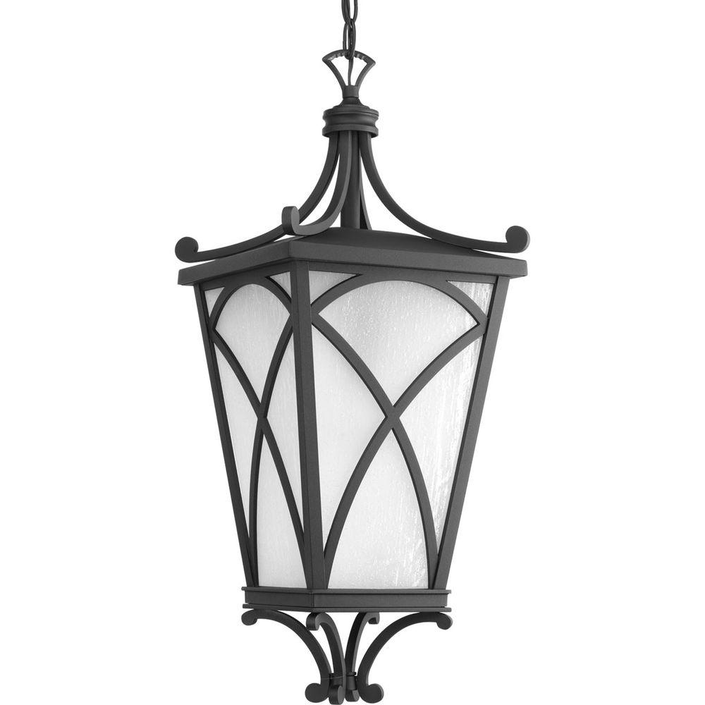 Cadence Collection 1-Light Outdoor Black Hanging Lantern