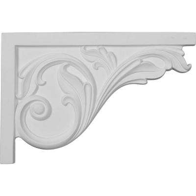 3/4 in. x 11-3/4 in. x 7-3/4 in. Polyurethane Right Large Acanthus Stair Bracket Moulding