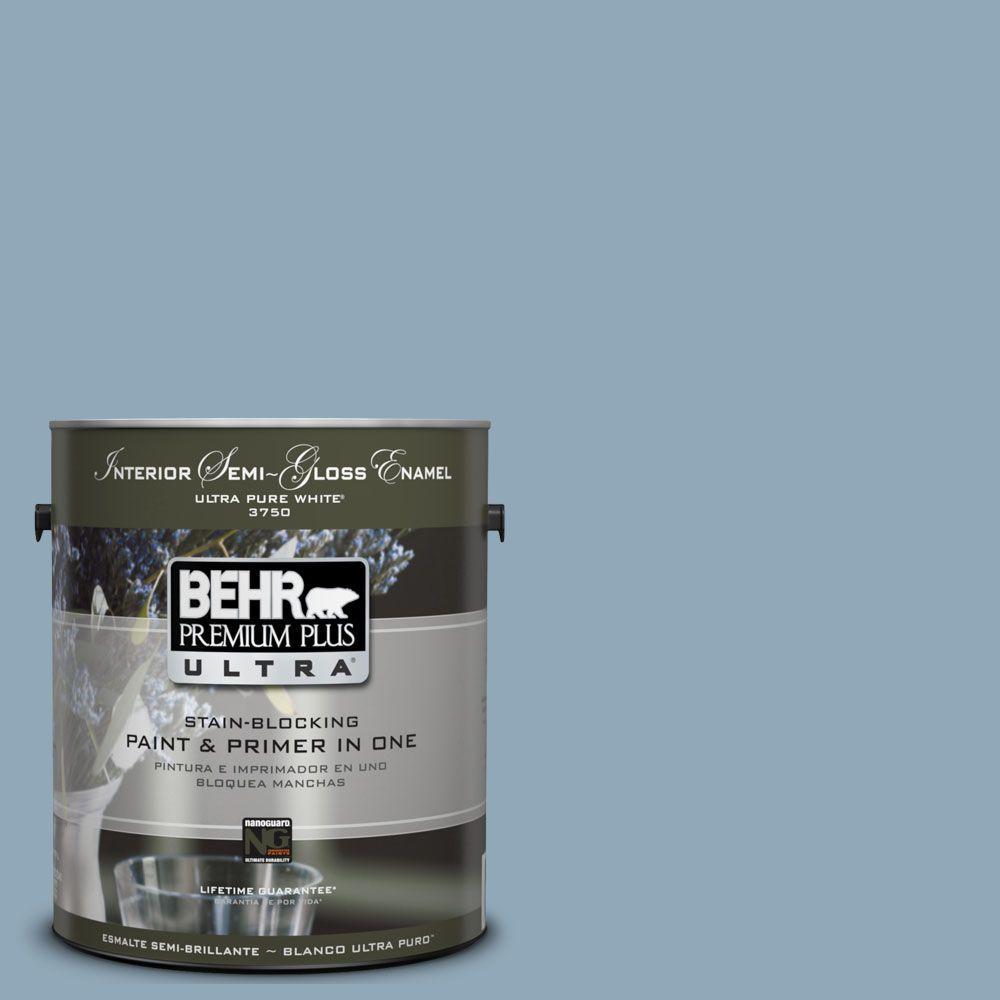 BEHR Premium Plus Ultra 1-gal. #UL230-16 Windsurf Interior Semi-Gloss Enamel Paint