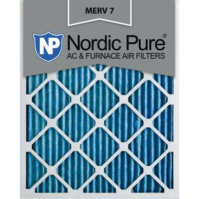 12 in. x 20 in. x 1 in. Basic Dust Pleated MERV 7 - FPR 5 Air Filter (6-Pack)