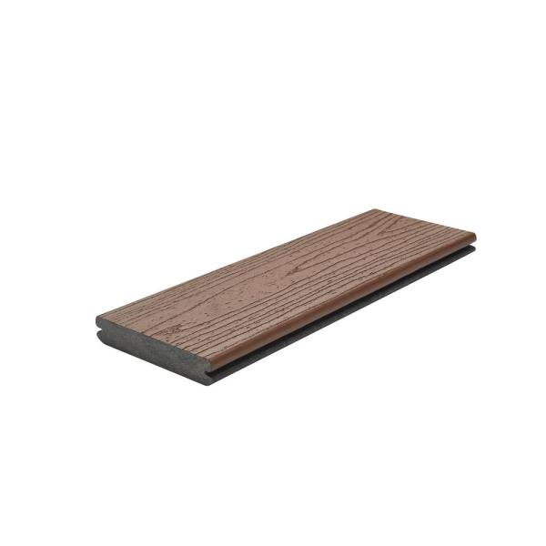 Transcend 1 in. x 5.5 in. x 1 ft. Tree House Composite Decking Board Sample (Model # THT92000 )