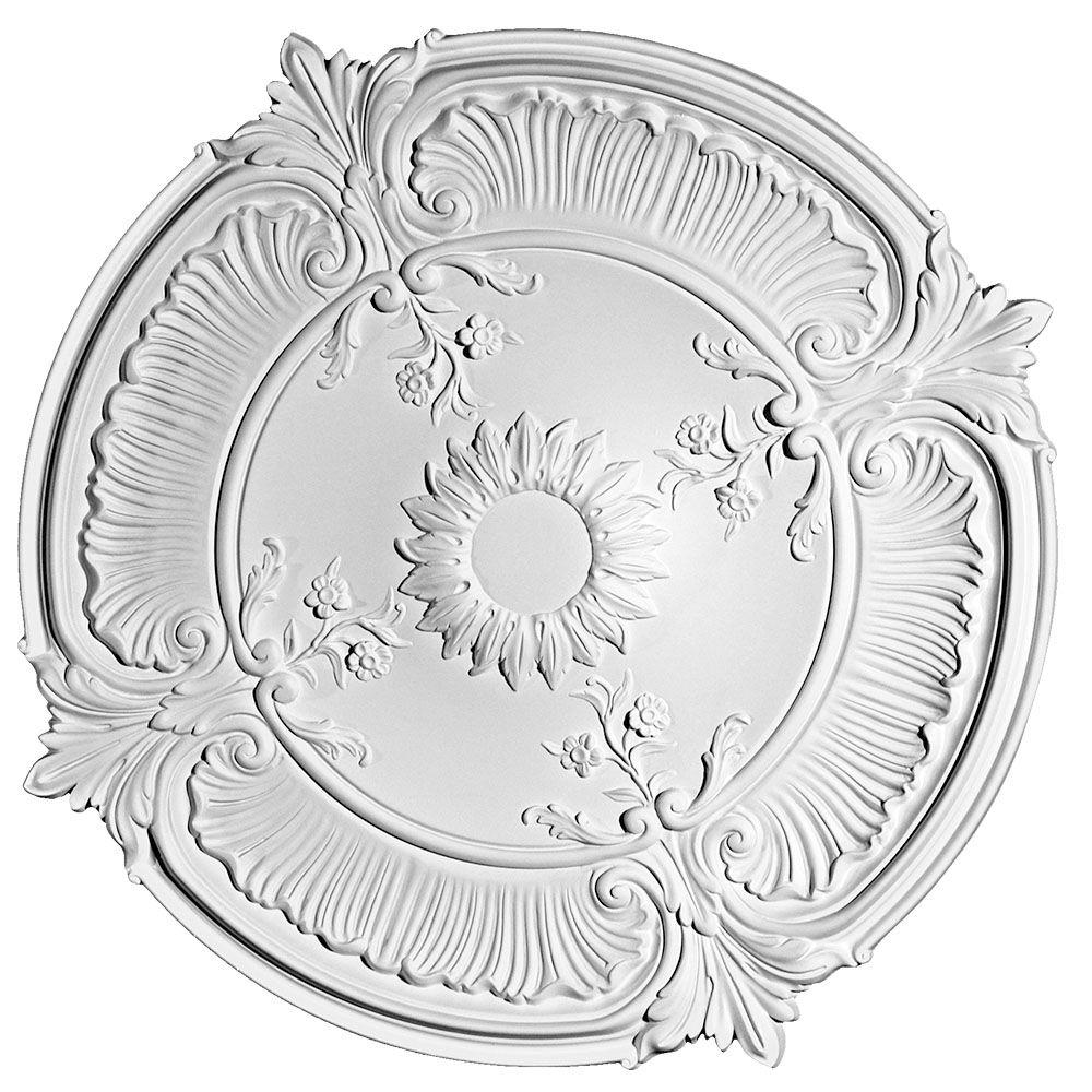 European Collection 27-9/16 in. x 2-9/16 in. Floral and Acanthus Leaves